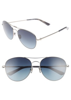 CALVIN KLEIN 57mm Aviator Sunglasses