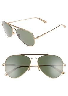 CALVIN KLEIN 58mm Aviator Sunglasses