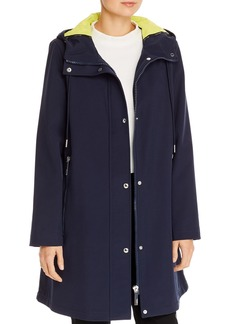 Calvin Klein A-Line Hooded Coat