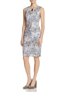 Calvin Klein Abstract Animal Print Sheath Dress