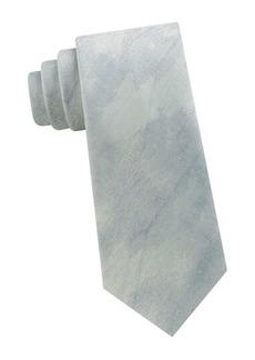 Calvin Klein Abstract Brushstroke-Print Silk Tie