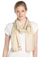 Calvin Klein almond checkered pashmina scarf