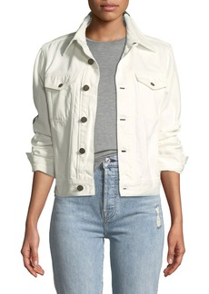 CALVIN KLEIN Ambulance-Disaster Archive Button-Down Denim Trucker Jacket