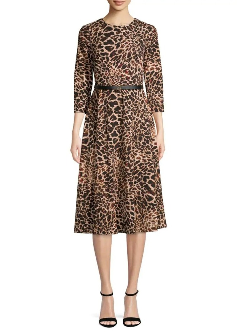 Calvin Klein Animal-Print A-Line Dress