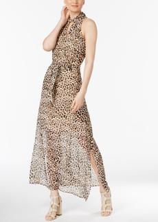 Calvin Klein Animal-Print Maxi Dress