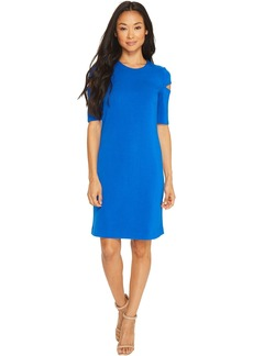 Calvin Klein Arm Cut Out Short Sleeve Sheath Dress