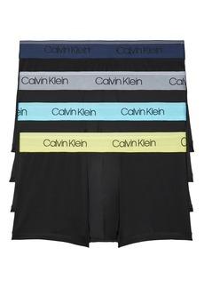 Calvin Klein Assorted 4-Pack Chromatic Micro Performance Trunks