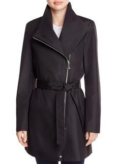 Calvin Klein Asymmetric Front Zip Trench Coat
