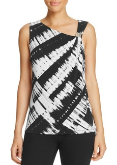Calvin Klein Asymmetric Graphic Print Top