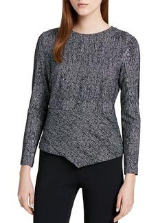 Calvin Klein Asymmetric Jacquard Front Top