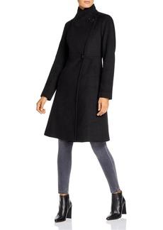 Calvin Klein Asymmetric Wool-Blend Coat
