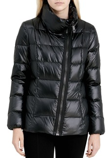 Calvin Klein Asymmetric Zip Front Down Coat