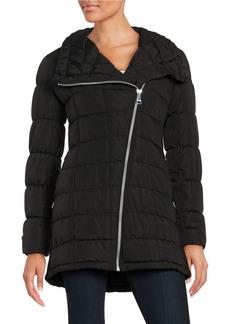 CALVIN KLEIN Asymmetric Zip Puffer Coat
