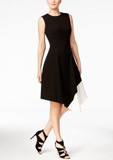 Calvin Klein Asymmetrical A-Line Dress