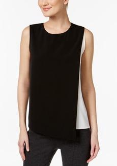 Calvin Klein Asymmetrical Colorblocked Top