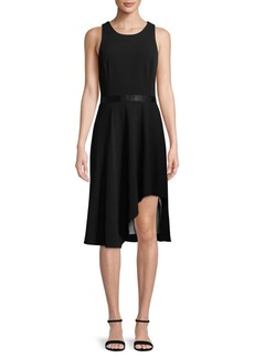 Calvin Klein Asymmetrical Fit-&-Flare Dress