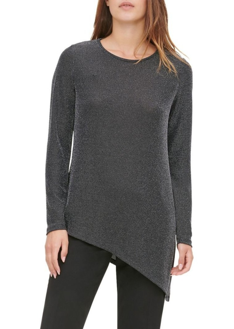 Calvin Klein Asymmetrical Knit Top