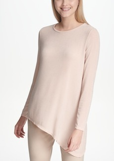 Calvin Klein Asymmetrical Metallic Top