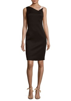 Calvin Klein Asymmetrical Neckline Dress