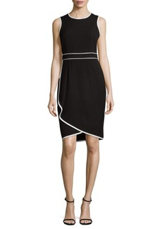 Calvin Klein Asymmetrical Sheath Dress