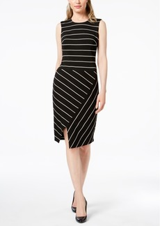 Calvin Klein Asymmetrical Striped Dress