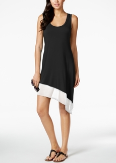 Calvin Klein Asymmetrical Tank Dress Cover Up, Created for Macy's Style Women's Swimsuit