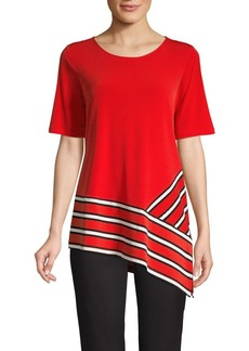Calvin Klein Striped Asymmetrical Top