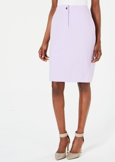 Calvin Klein Back-Slit Pencil Skirt