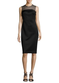 Calvin Klein Back Slit Sheath Dress