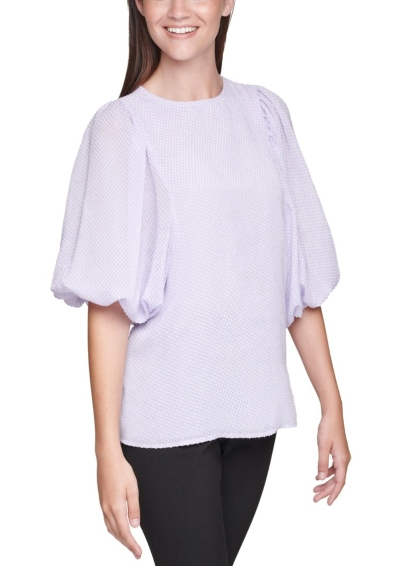 Calvin Klein Balloon-Sleeve Top