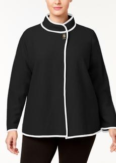 Calvin Klein Band Collar Boiled Knit Jacket