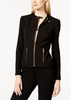 Calvin Klein Band Collar Moto Jacket