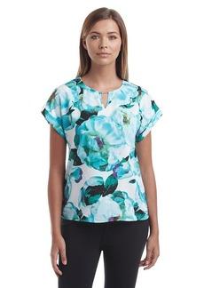 Calvin Klein Bar Hardwear Floral Top