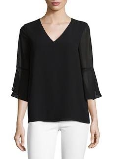 Calvin Klein Basic V-Neck Blouse