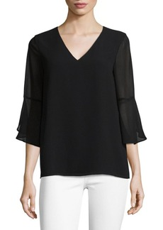 Calvin Klein Basic V-Neck Blouse