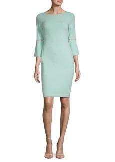 Calvin Klein Beaded Cutout Ponte Sheath Dress