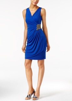 Calvin Klein Beaded Draped Jersey Dress