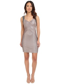 Calvin Klein Beaded Shoulder Pin Tuck Sheath Dress CD5B2A52