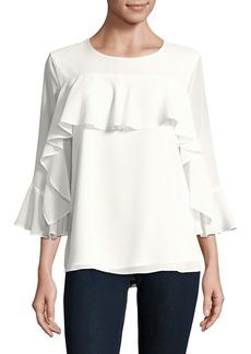 Calvin Klein Bell-Sleeve Blouse