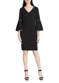 Calvin Klein Bell-Sleeve Crepe Dress