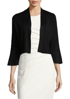 Bell-Sleeve Cropped Cardigan