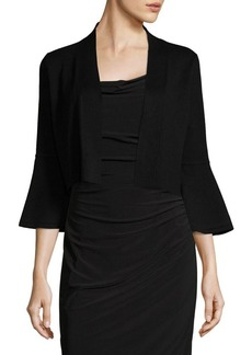 Calvin Klein Bell-Sleeve Cropped Cardigan