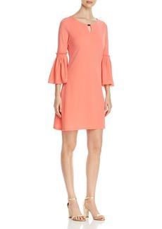 Calvin Klein Bell Sleeve Keyhole Dress