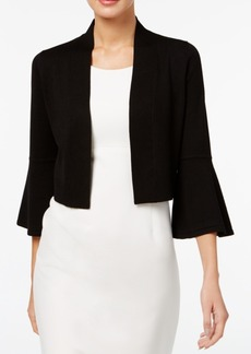 Calvin Klein Bell-Sleeve Knit Shrug