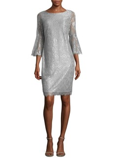 Calvin Klein Bell Sleeve Lace Dress