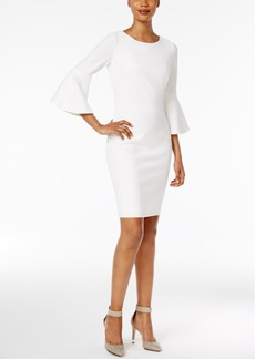 Calvin Klein Bell-Sleeve Sheath Dress