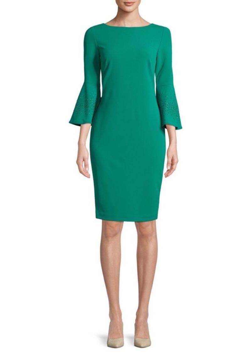 Calvin Klein Calvin Klein Bell Sleeve Sheath Dress