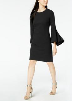 Calvin Klein Bell-Sleeve Sheath Dress