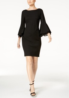 Calvin Klein Bell-Sleeve Sheath Dress, Regular & Petite Sizes