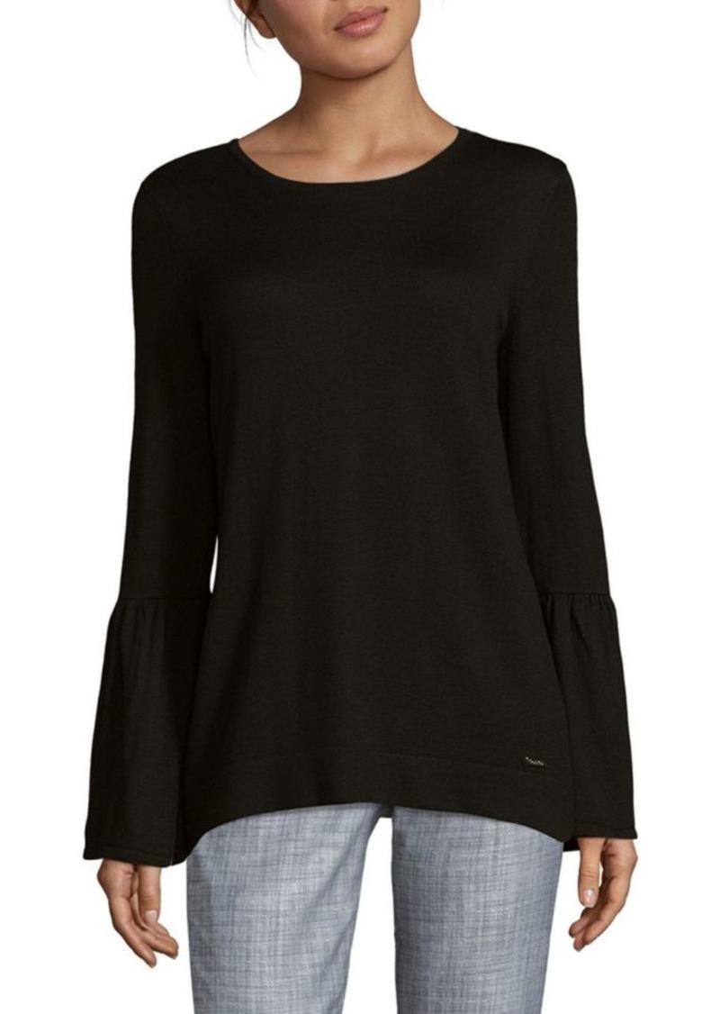 9b83c5b8bd Calvin Klein Bell Sleeve Sweater